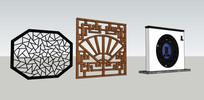 中式窗模型