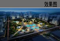 中央广场景观夜景效果图 JPG