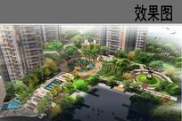 住宅区景观设计鸟瞰图