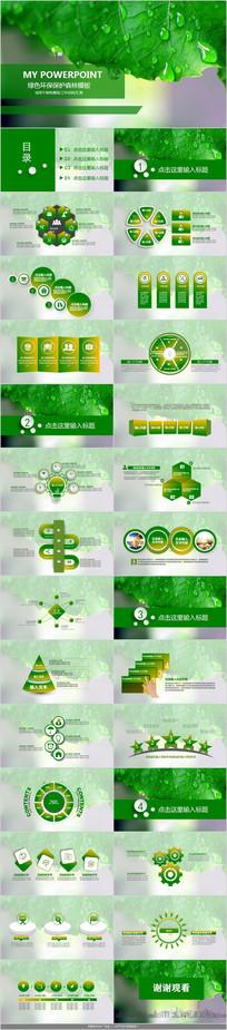 环境保护呵护地球PPT模板