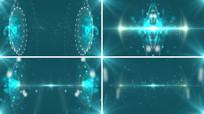 两圆圈科技背景视频