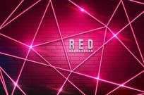 氖灯网站红色背景素材