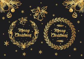 圣诞节卡片贺卡素材