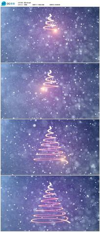 粒子光线画出圣诞树视频