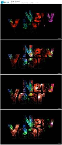 新年视频背景 mp4