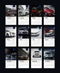 2018汽车日历