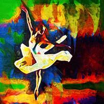 芭蕾油画装饰画