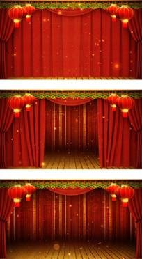 春晚相声演员上台红色幕布打开