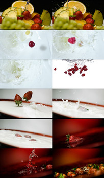 各种水果掉落合集动态视频