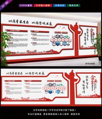 公司文化展板背景墙设计