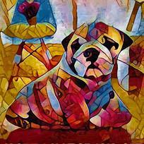狗油画装饰画