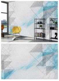 几何素雅北欧个性电视背景墙