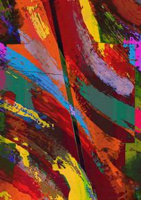 流行色彩油画装饰画