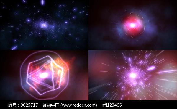 粒子光线能量汇集视频图片