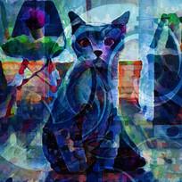 猫油画装饰画