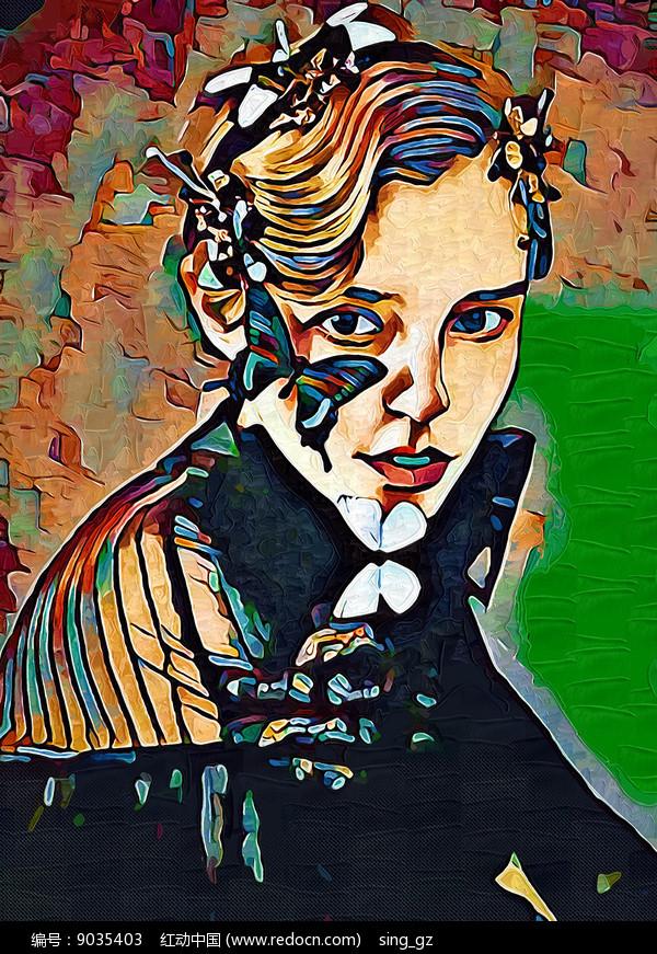 女人油画装饰画图片