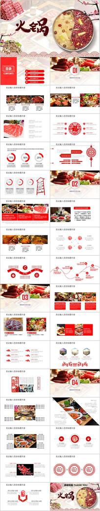 火锅餐饮美食动态PPT模板