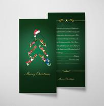 绿色圣诞节贺卡模板
