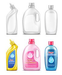 清洁用品塑料瓶效果图素材