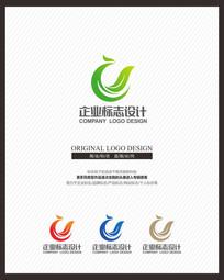 清新保健品食品茶叶标志设计