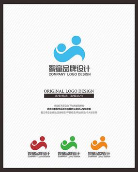 亲子教育培训母婴品牌标志设计