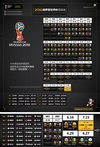 2018俄罗斯世界杯赛程表海报
