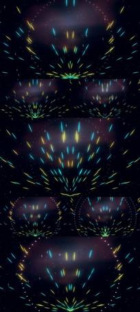 动感光线粒子LED舞台视频