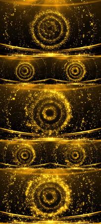 奢华金色粒子光斑LED舞台