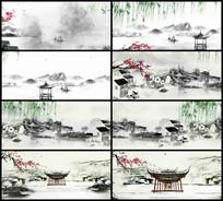 中国风水墨山水LED视频背景