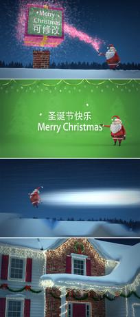 2018圣诞节动画视频模板