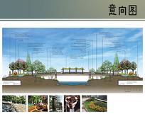 步行桥剖面图