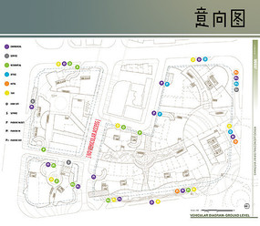 国外景观功能分区排版图