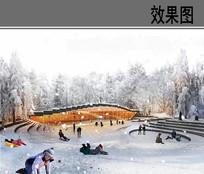 滑雪场冬季效果图 JPG