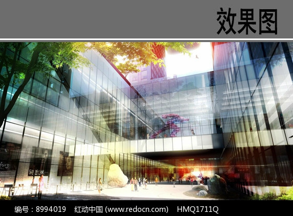 建筑中庭设计效果图图片
