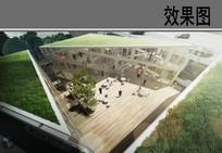 建筑中庭效果图