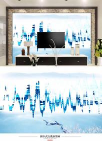 新中式电视背景墙壁画