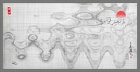 中式水墨素材抽象画