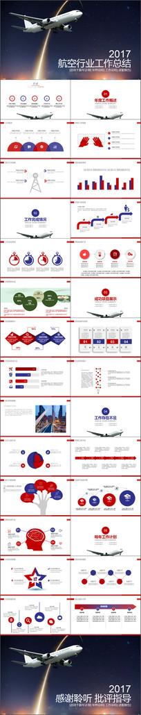 航空公司工作总结报告PPT