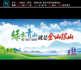 环境环保宣传栏展板