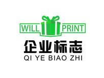 礼物盒标志PSD源文件