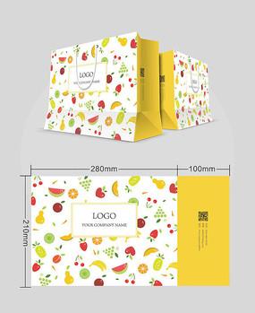 满铺式扁平化水果超市手提袋