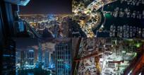 城市夜景实拍素材