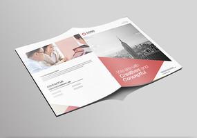 红色企业产品画册封面模板