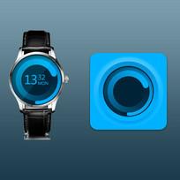 蓝色图表设计 PSD