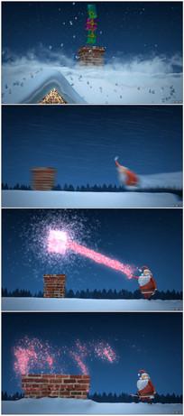 三维卡通圣诞老人片头动画