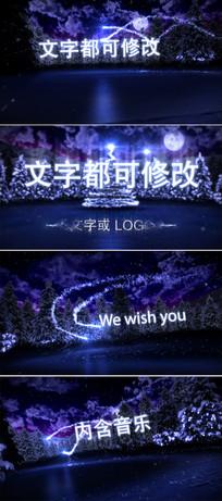 圣诞节新年祝福文字片头模板