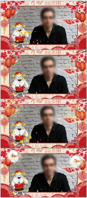 中国风大气新年祝福片头边框视频
