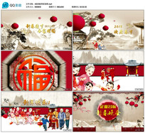中国风新年晚会片头AE模板