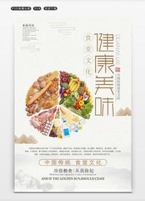 大气食堂文化展板之健康美味