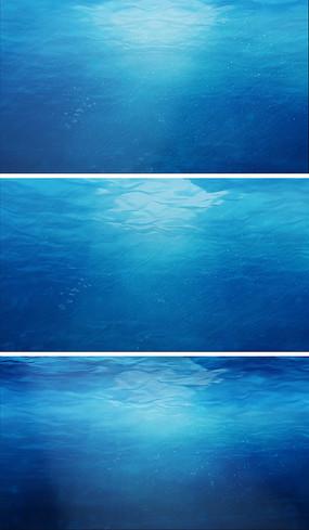 蓝色海水流动视频素材